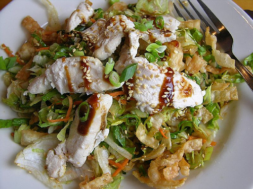 California Pizza Kitchen Chinese Chicken Salad is all filler ...